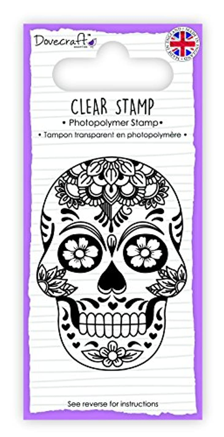 DCSTP105 Dovecraft Clear Stamp-Skull & Rose