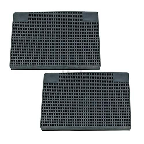 2 filtros de carbón DL-pro para campana extractora Whirlpool 48400008781 481281728947 Typ141 Zanussi 9029793552 Faber EFF70