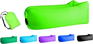 Jsutyer Inflatable Lounger Portable Air Couch, Air Sofa Bag, Indoor or Outdoor Inflatable Chair, Ideal for Child, Inflatable Lounge for Camping Beach Park and Backyard