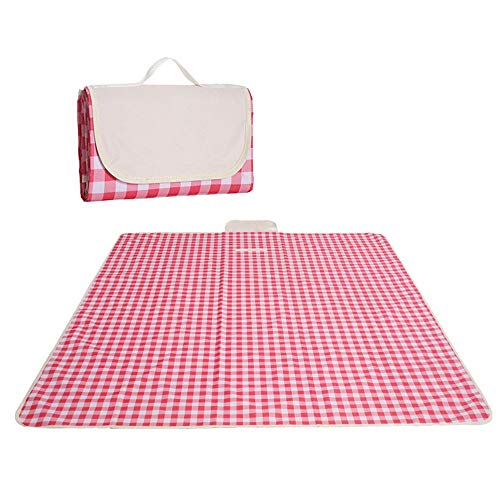 YUXIAOYU Portable Picnic Blanket, 3-Layer Waterproof Foldable Beach Blanket, Tent Blanket Sand Proof for Camping,Park,Beach,Hiking, Family Concerts
