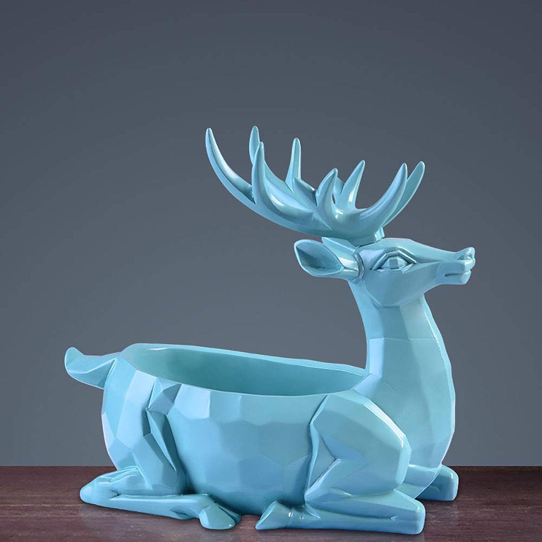 tienda de venta en línea LINDU Statue Environmental Projoection Resin Resin Resin Deer Decoration Simple Creative Arts and Crafts Gifts Home furnishings Living Room Christmas Gifts,azul  El nuevo outlet de marcas online.