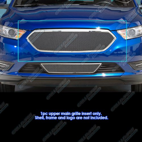 APS Compatible with 2013-2019 Ford Taurus W SHO Logo Cover Stainless Steel Mesh...