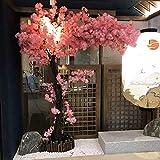 JSBVM Flor De Cerezo Artificial De Color Rosa Claro Árbol De Flores De Melocotón Sintético para Bodas, Decoración del Hogar, Interiores O Exteriores