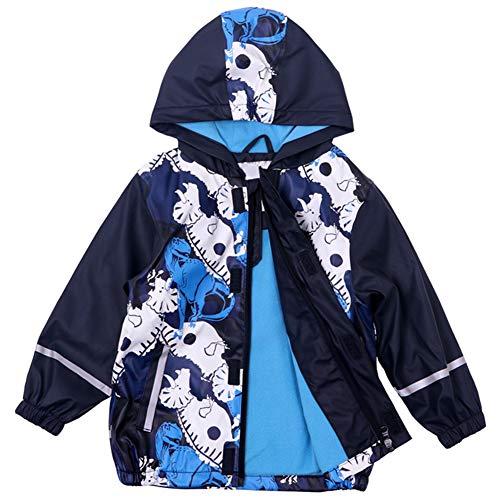 Kinderen jongens meisjes waterdichte regenjas regenjas windbreaker herfst-frühling warm cartoon jas softshell jas met capuchon