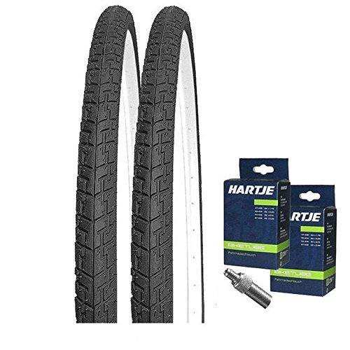 KENDA Set: 2 x Fahrrad Reifen/Trekkingreifen K830 37-622 / 700x35C + Schläuche Dunlopventil