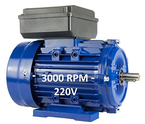 Alren - Motore Elettrico Monouso Alto Per Avviamento, 1,5 KW / 2 CV 220 V, 3000 Rpm, B3, Dimensioni Delle Gambe 90 S, Asse 24 Mm