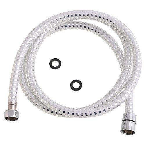 Oryx 4040293 Flexo Ducha PVC Blanco/Plata 1