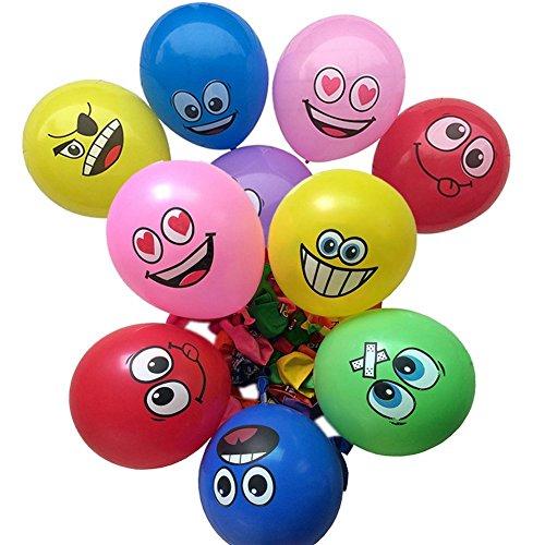 """100PCS 12 """"Universo Emoji Balloons Smiley Espressione di nozze aerostati del lattice per decorazioni della festa di compleanno con 8 diversi colori"""