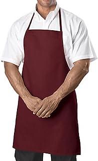 Bib Aprons-burgundy-12 Pc (1 Dz) Pack-new Spun Poly-commercial Restaurant Kitchen