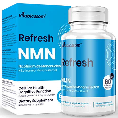 NMN Stabilized Form 500mg Capsule Nicotinamide Mononucleotide Direct NAD Supplement, to Boost NAD Levels Like Riboside for Anti Aging(1 Pack)