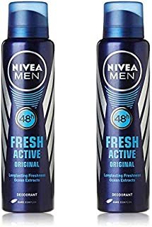 Nivea 2 Lots X Fresh Active Original 48 Hours Deodorant, 150Ml