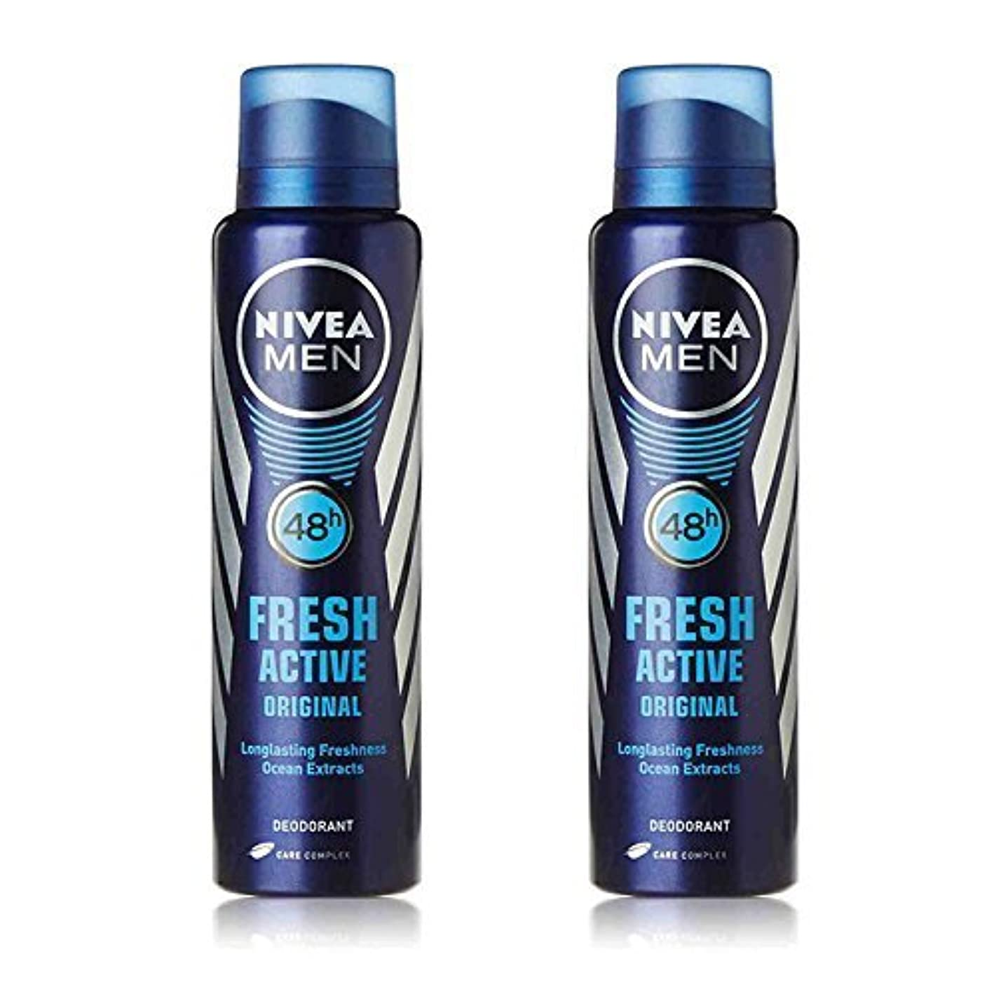 暴行漫画プールNivea 2 Lots X Fresh Active Original 48 Hours Deodorant, 150Ml