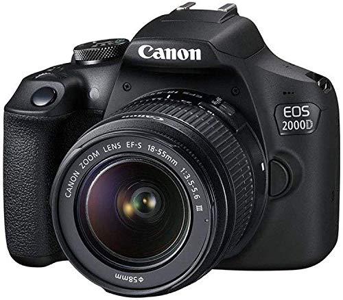 Canon EOS 2000D / Rebel T7 DSLR Camera w/ 18-55mm F/3.5-5.6 III Lens + SanDisk 32GB...