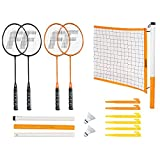 Franklin Sports Badminton Set - Portable Badminton...