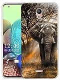 Sunrive Kompatibel mit Wiko U Feel Fab Hülle Silikon, Transparent Handyhülle Schutzhülle Etui Hülle (X Elefant)+Gratis Universal Eingabestift MEHRWEG