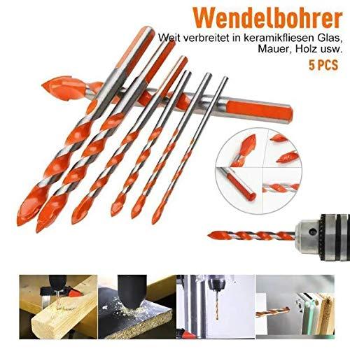 Alpenadler Multifunktionale Bohrer große Härte Unbesiegbar 5PCS (DREIECK-OVERLORD BOHRER (ORANGE))