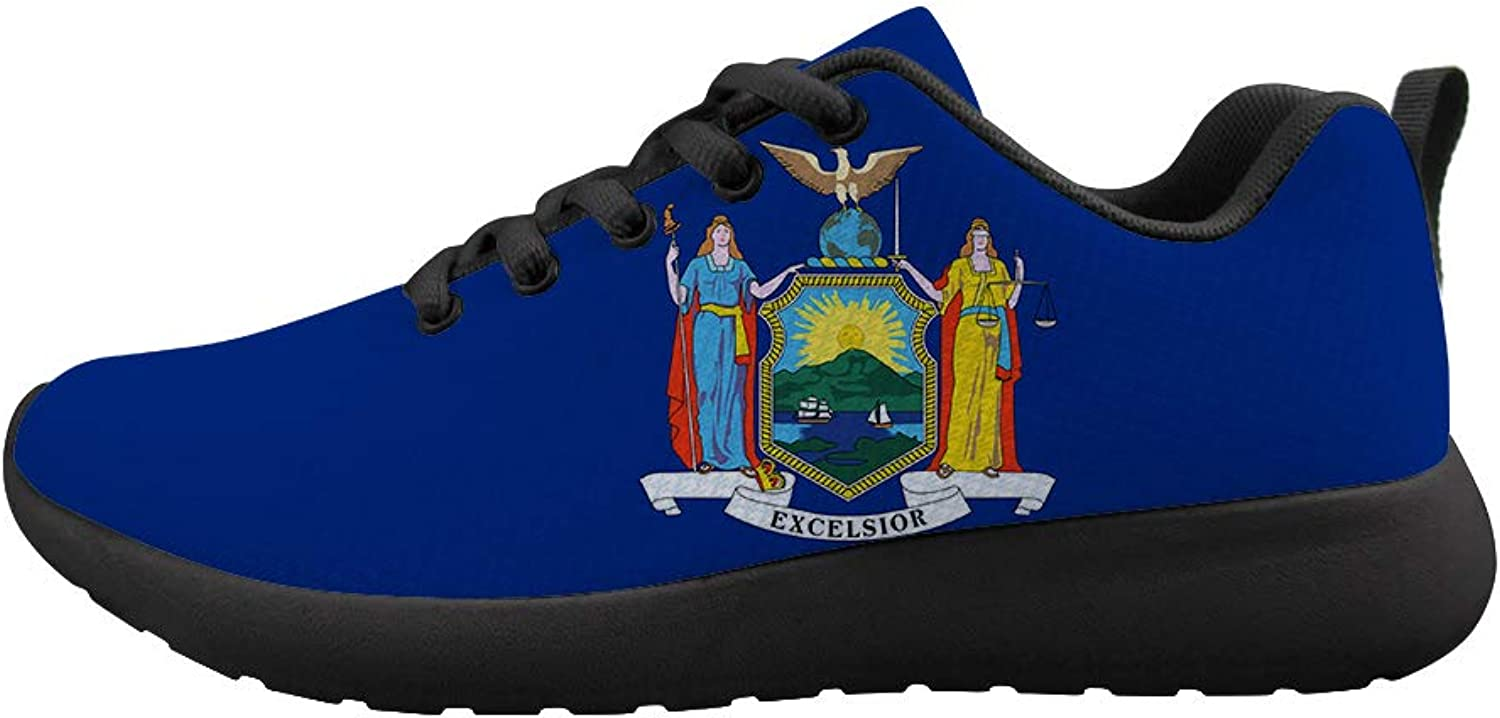 Owaheson Cushioning Sneaker Trail Running shoes Mens Womens Goddess New York Flag