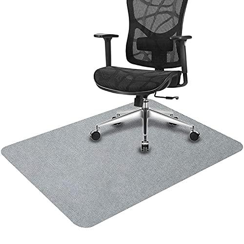 Alfombrilla protectora para el suelo, para silla de oficina, 90 x 140 cm, suelo duro, versión mejorada, alfombra multiusos para el hogar (gris claro, 140 x 90 cm)