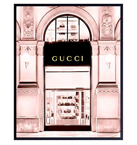 Photo of Gucci Store - High Fashion Design Wall Decor Picture - Glam Wall Art Poster - 8x10 Designer Wall Decor - Glamour Wall Art Gift for Women - Designer Fashion Luxury Couture Home Decorations