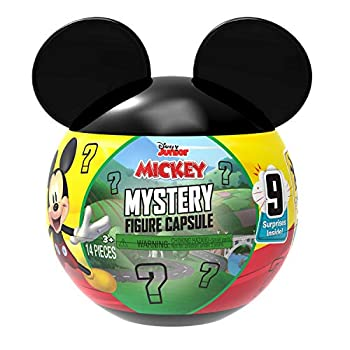 Disney Junior Mickey Mouse Mystery Figure Capsule 9 pieces inside Amazon Exclusive by Just Play