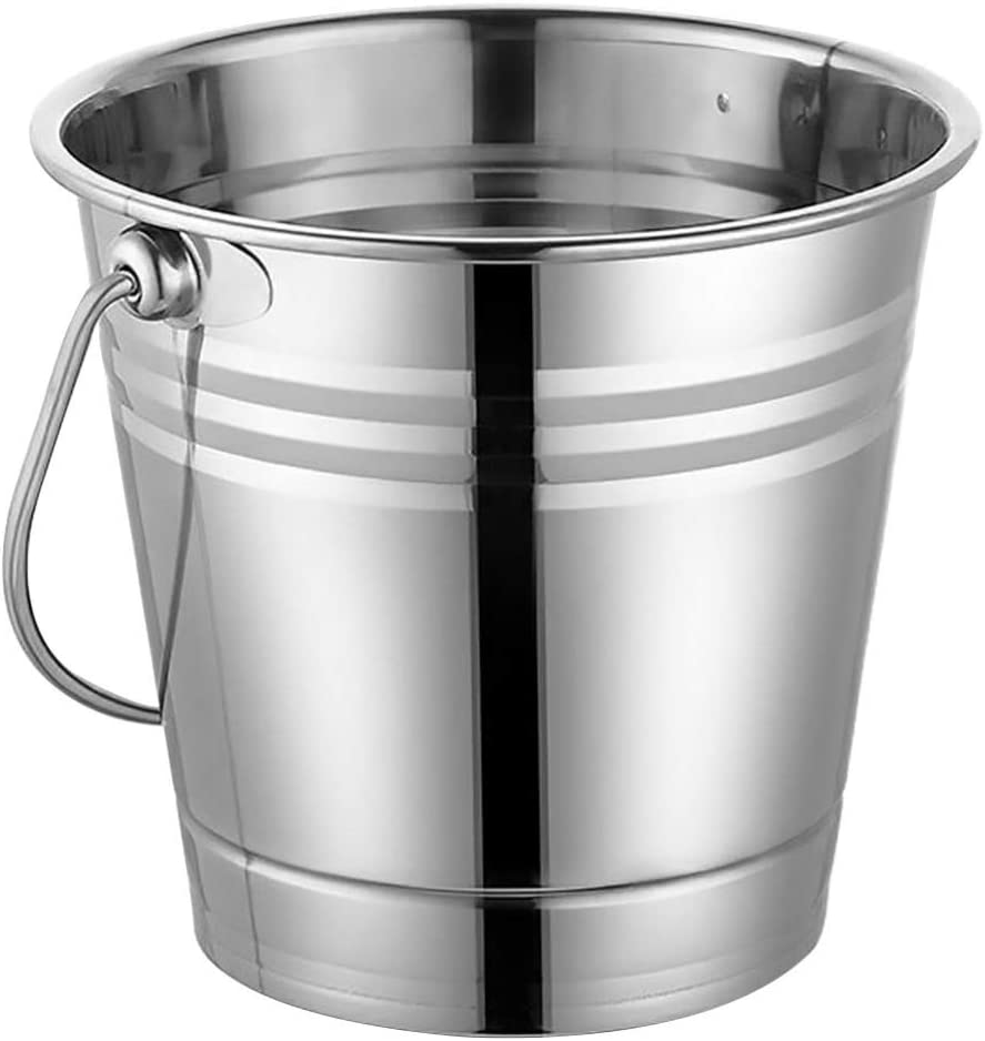 Hemoton Stainless Steel Ice Bucket ce Wine Ch OFFicial store Under blast sales Container Cube for