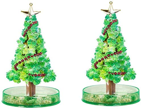 UKKUER The Magical Growth of The Crystal Christmas Tree, Children DIY Feel The Magical Growth of Halloween Decoration Tree/Christmas Decorations/Party Toys (2 PCS)