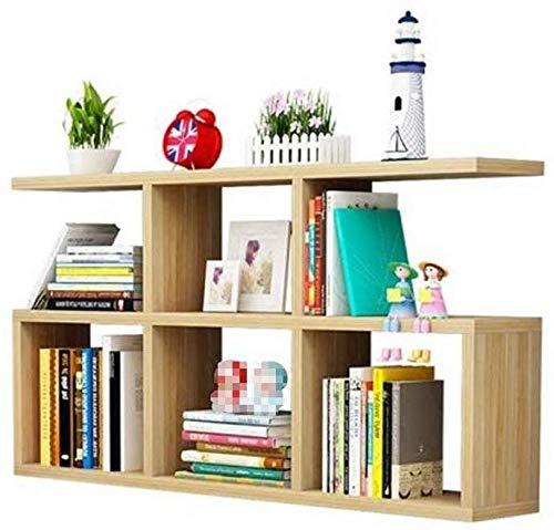 Wandstelling van hout, vrij zwevend, wandplank, wandplank (kleur: wit, maat: 100 cm) 80cm Houtkleur.