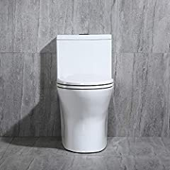 ✅ [LUXURIOUS MODERN DESIGN] Luxurious Modern Design one piece toilet Clean sleek look and compliment with different styles like modern craftsman traditional and etc ✅[EASY TO CLEAN DESIGN] The skirted trap way creates a sleek look and makes cleaning ...