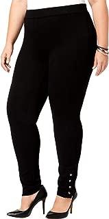 Style & Co Plus Size Ponte Knit Snap-Bottom Leggings
