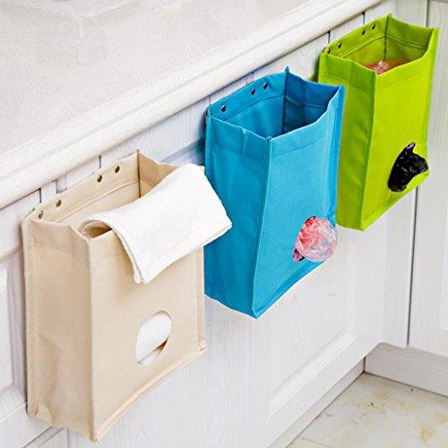 Sacs de rangement Xuan - Worth Another Poubelle de Cuisine Boîte de Rangement Prenez Le Sac Sac de Suspension pour Porte arrière Boîte de Finition pour débris Tissu Oxford (Couleur : Green)