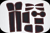 KINMEI(キンメイ) マツダ CX-3 赤 MAZDA 専用設計 インテリア ドアポケット マット ドリンクホルダー 滑り止め ノンスリップ 収納スペース保護k-59