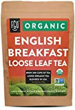 Organic English Breakfast Loose Leaf Tea | Brew 200 Cups | Blended in USA | 16oz/453g Resealable Kraft Bag | by FGO