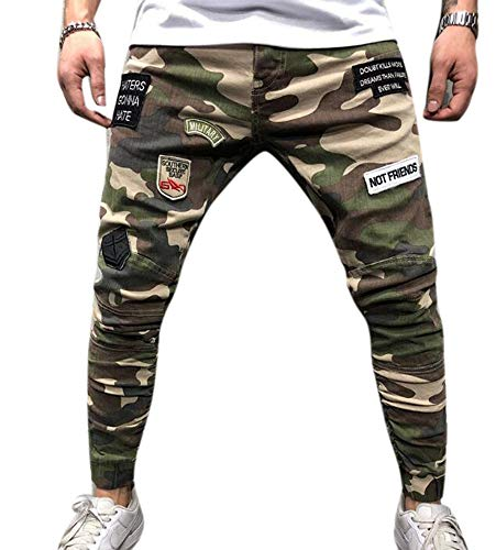 Babao Skinny Camo Cargo Pants stretch werkbroek