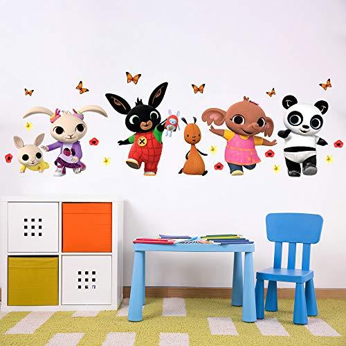 B_R0003 Adesivi Murali Effetto Tessuto Bing Cartoon Flop Amma Pando Padget Sula Decorazione Muro Cameretta Bambino