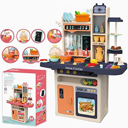 LiangDa Juguetes de Cocina Cocina Juguetes Diversión con Amigos Kit De Accesorios Azul Niños Cocina Cocina Cocina De Barbie Conjunto de Juguete de la Cocina (Color : Azul, Size : 71x28.5x93.5cm)