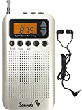 5. SoundsB - SB18 AM/FM Pocket Radio (White)