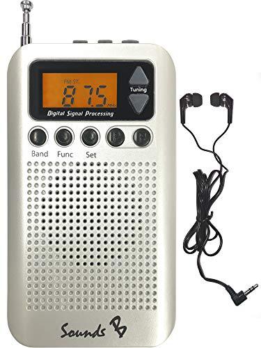 SoundsB - SB18 AM/FM Pocket Radio (White)