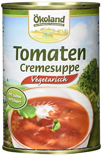 ÖKOLAND Tomaten-Creme-Suppe, 6er Pack (6 x 400 g)