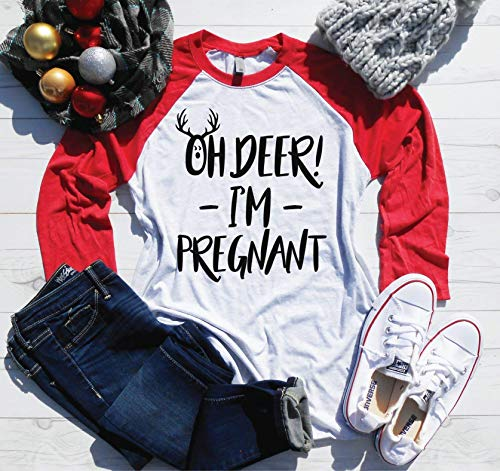 Oh Deer! I'm Pregnant - Christmas Pregnancy Announcement - Christmas Pregnancy...