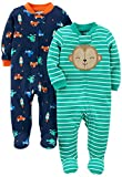 Simple Joys by Carter's Infant-and-Toddler-Bodysuit-Footies, Monkey/Vehicles,...