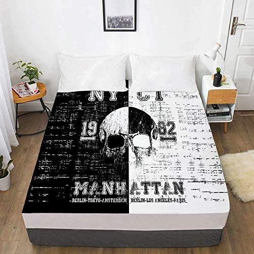 Bedclothes-Blanket 3D Digitaldruck Bettlaken Matratze Schutzhülle Schädel Bettwäsche-200x200_23