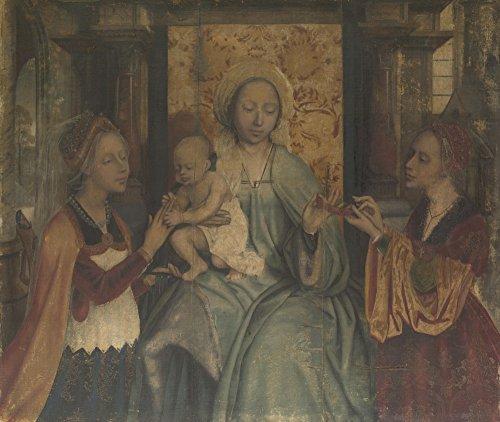 Das Museum Outlet–Quinten Massys–Die Jungfrau und Kind mit Heiligen Barbara und Catherine–Leinwanddruck Online kaufen (152,4x 203,2cm)