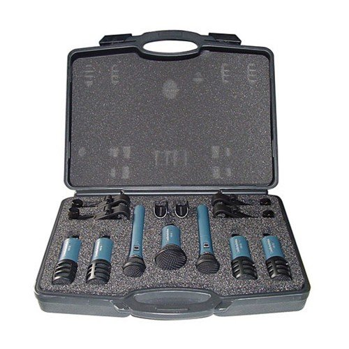 Audio-Technica MB-DK7 - Pack de 7 micrófonos Midnight Blues para batería, color negro