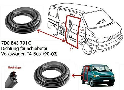 Schiebetürdichtung Dichtung T4 Transporter BUS MULTI Gummidichtung 1990-2003 7D0843791C (nicht für Kasten!)