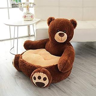QYBKJDStoy Plush Dog Soft Toys Stuffed Animals Plush Panda Duck Bear Doll Kids Cushion Chair toy (Color : Dark brown bear)