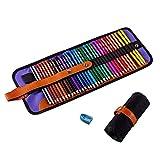 Juego de 36 lápices de colores, lápices para colorear de artistas para libros de colorear para adultos, bocetos de artistas, lápices de dibujo Premier con bolsa y sacapuntas