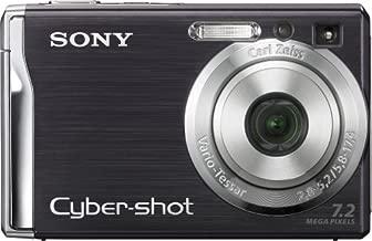 Sony Cybershot DSCW80 7.2MP Digital Camera with 3x Optical Zoom and Super Steady Shot (Black)