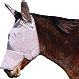 Cashel Crusader Mule Fly Mask with Long Nose and Ears - Color:Grey Size:Yearling