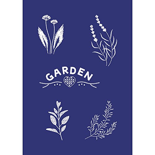 Rayher Schablone Garden, DIN A5, Gummi, Blau, 26 x 16 x 0,2 cm