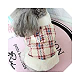 Dog Coat Winter French Bulldog Dog Clothes for Small Dogs Warm Outfit Pugs Clothing for Chihuahua Clothes-White-M